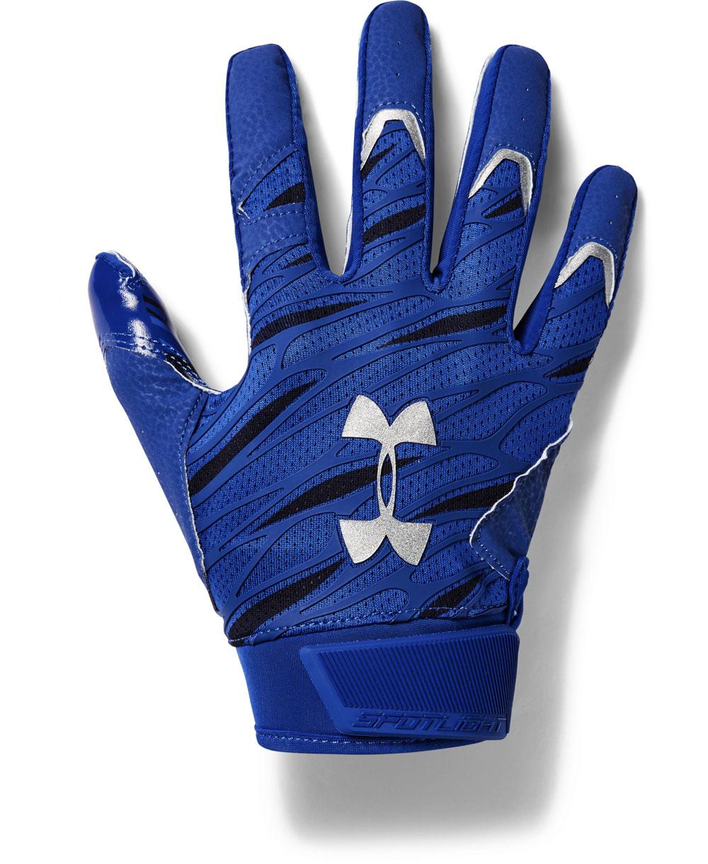 UA Spotlight Herren American Football Handschuhe Royal
