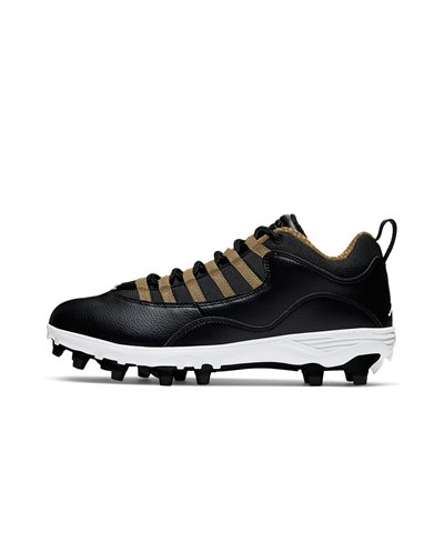 Men's Jordan 10 TD Low American Football Cleats Black