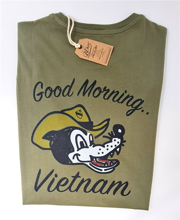 Good Morning Vietnam T-Shirt Manica Corta Uomo Military Green