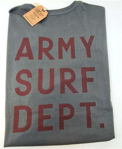 Men's Short Sleeve T-Shirt Army Surf Dept Faded Black