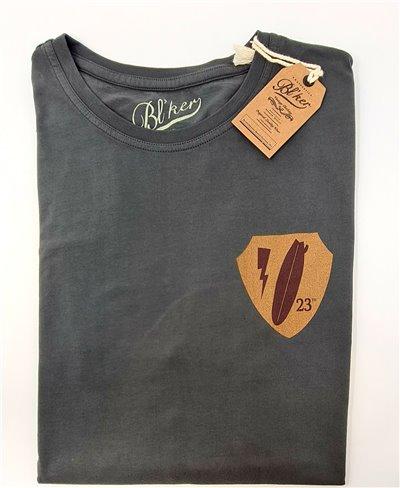 Army Surf Dept T-Shirt Manica Corta Uomo Faded Black