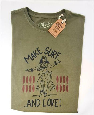 Make Surf Camiseta Manga Corta para Hombre Military Green