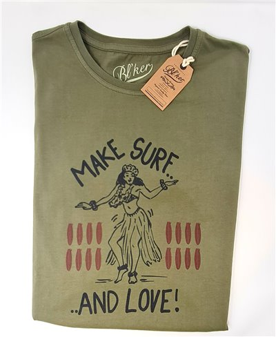 Men's Short Sleeve T-Shirt Make Surf Military Green