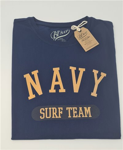 Navy Surf Team T-Shirt Manica Corta Uomo Navy