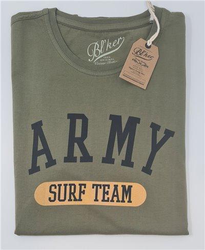 Army Surf Team Camiseta Manga Corta para Hombre Military Green