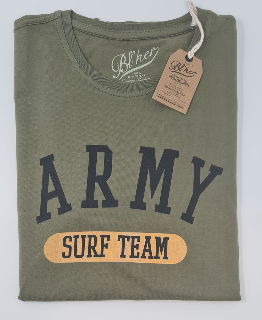 Army Surf Team T-Shirt à Manches Courtes Homme Military Green