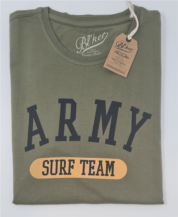 Army Surf Team T-Shirt Manica Corta Uomo Military Green