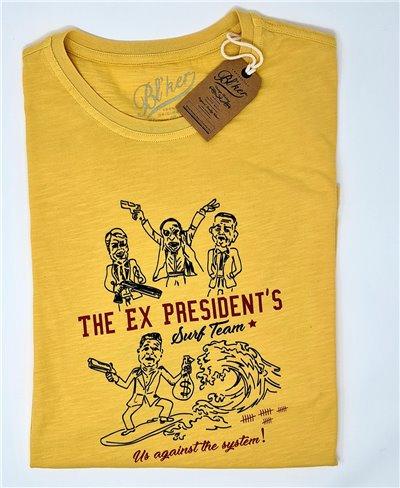 Ex President Camiseta Manga Corta para Hombre Yellow