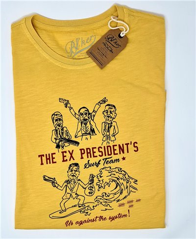 Men's Short Sleeve T-Shirt Ex President Yellow