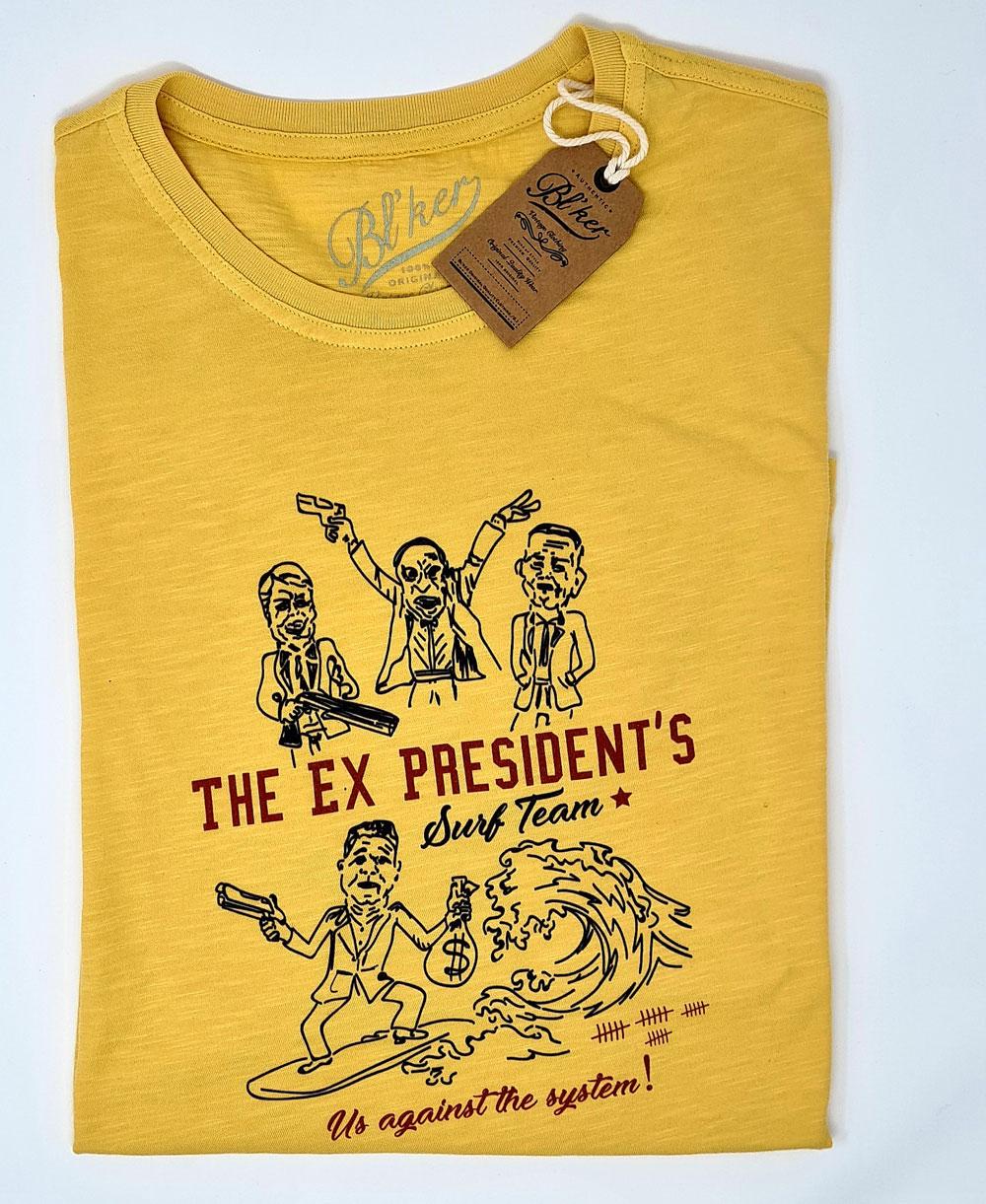 Men's Short Sleeve T-Shirt Ex President Yellow