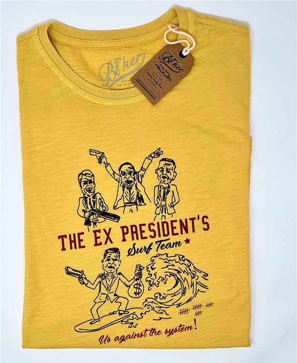Herren Kurzarm T-Shirt Ex President Yellow