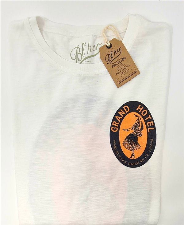 Grand Hotel Hawaii Camiseta Manga Corta para Hombre White