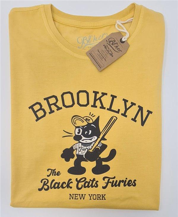 Herren Kurzarm T-Shirt Felix Furies Yellow