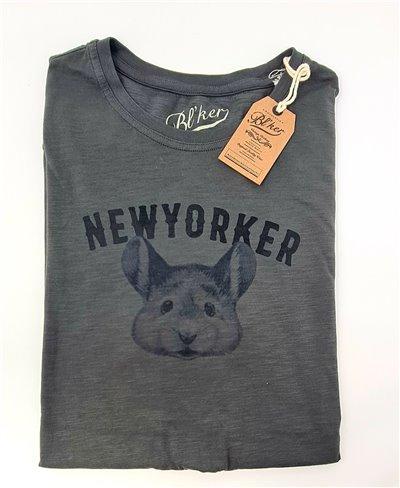 New Yorker Smurf T-Shirt Manica Corta Uomo Faded Black