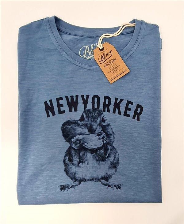 New Yorker Chesnut Camiseta Manga Corta para Hombre Petroleum