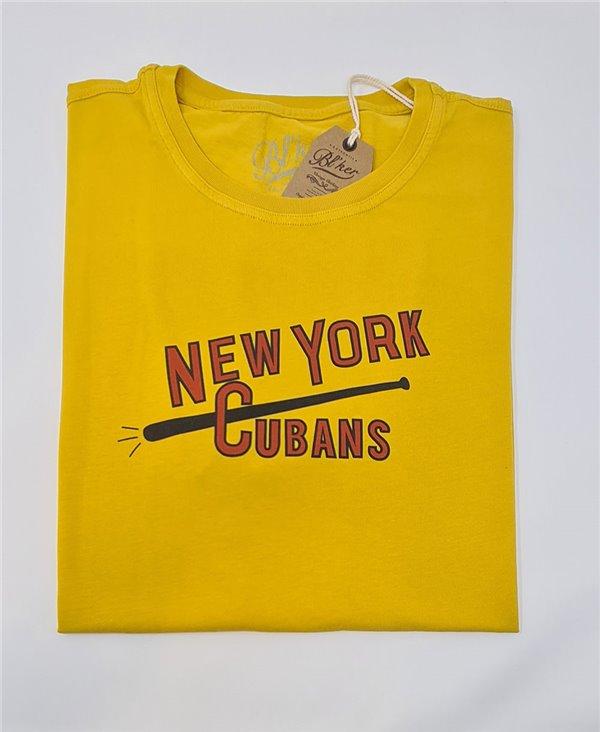 New York Cubans T-Shirt Manica Corta Uomo Yellow
