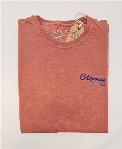 Motel California T-Shirt à Manches Courtes Homme Red