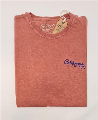 Motel California T-Shirt Manica Corta Uomo Red