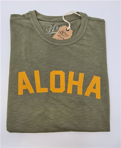 Men's Short Sleeve T-Shirt Aloha Military Green