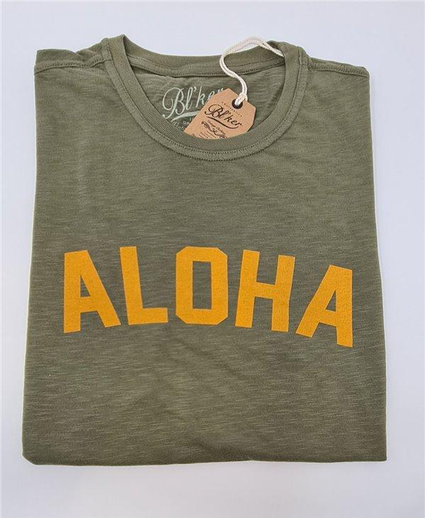 Herren Kurzarm T-Shirt Aloha Military Green