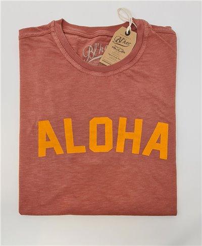 Herren Kurzarm T-Shirt Aloha Red