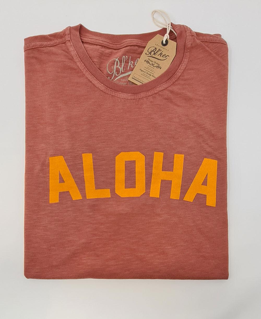 Aloha Camiseta Manga Corta para Hombre Red