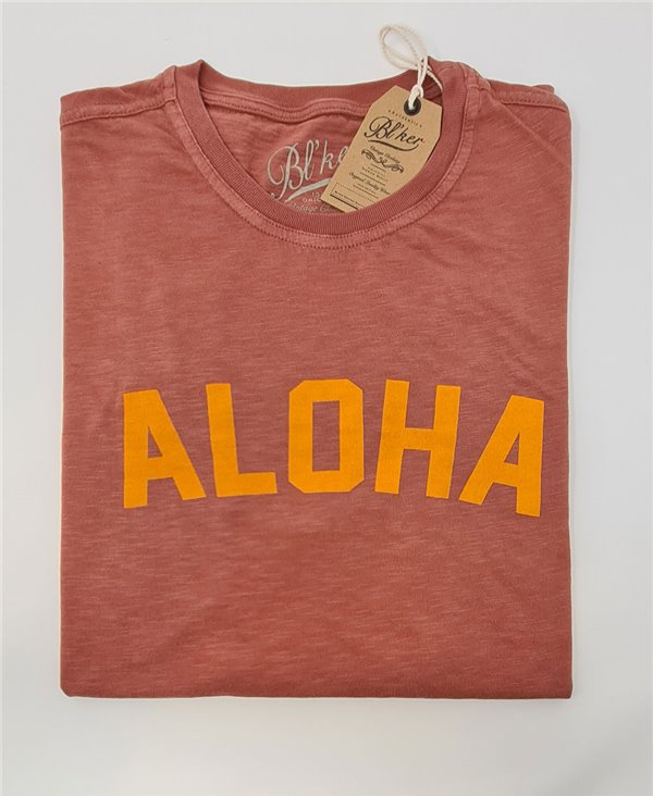 Aloha T-Shirt Manica Corta Uomo Red