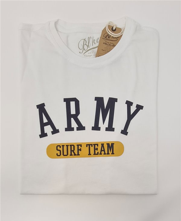Army Surf Team T-Shirt Manica Corta Uomo White
