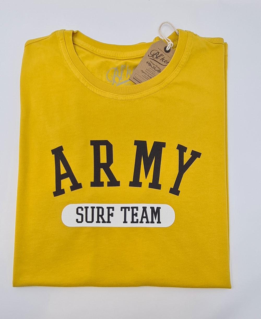 Army Surf Team T-Shirt Manica Corta Uomo Yellow