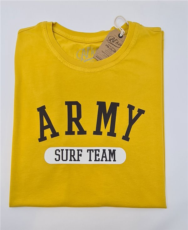 Army Surf Team T-Shirt à Manches Courtes Homme Yellow