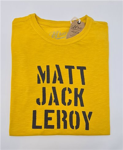 Men's Short Sleeve T-Shirt Big Wednesday Yellow