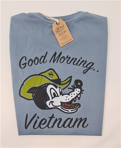 Herren Kurzarm T-Shirt Good Morning Vietnam Petroleum