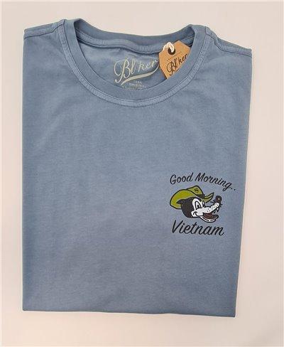 Good Morning Vietnam Camiseta Manga Corta para Hombre Petroleum