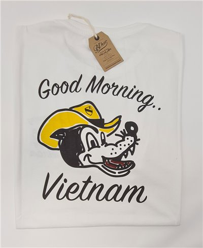 Herren Kurzarm T-Shirt Good Morning Vietnam White