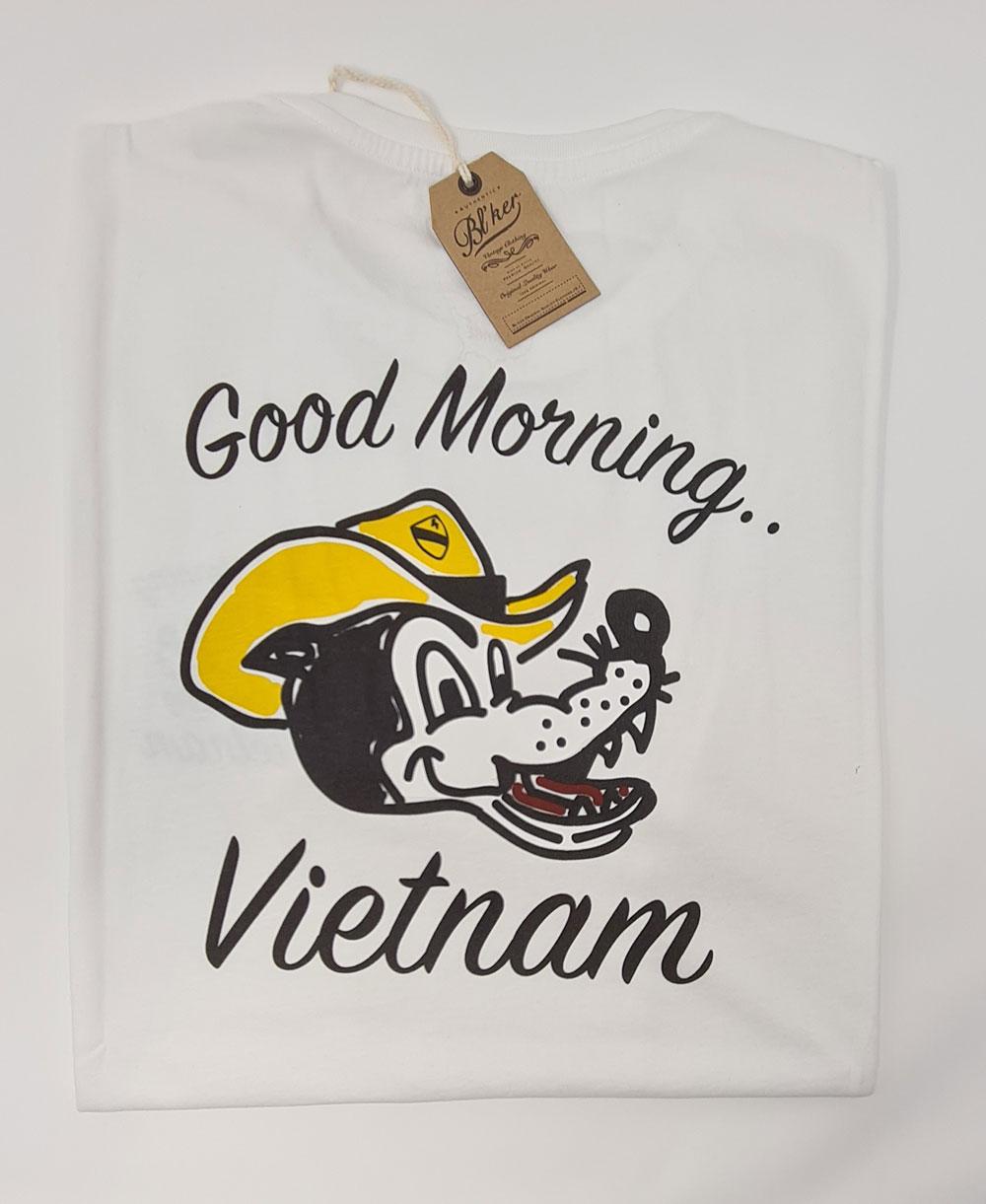 Men's Short Sleeve T-Shirt Good Morning Vietnam White