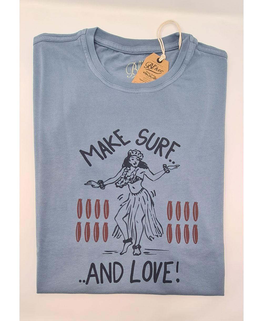 Make Surf T-Shirt à Manches Courtes Homme Petroleum