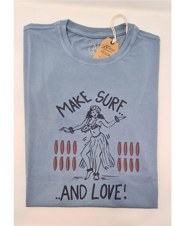 Make Surf Camiseta Manga Corta para Hombre Petroleum