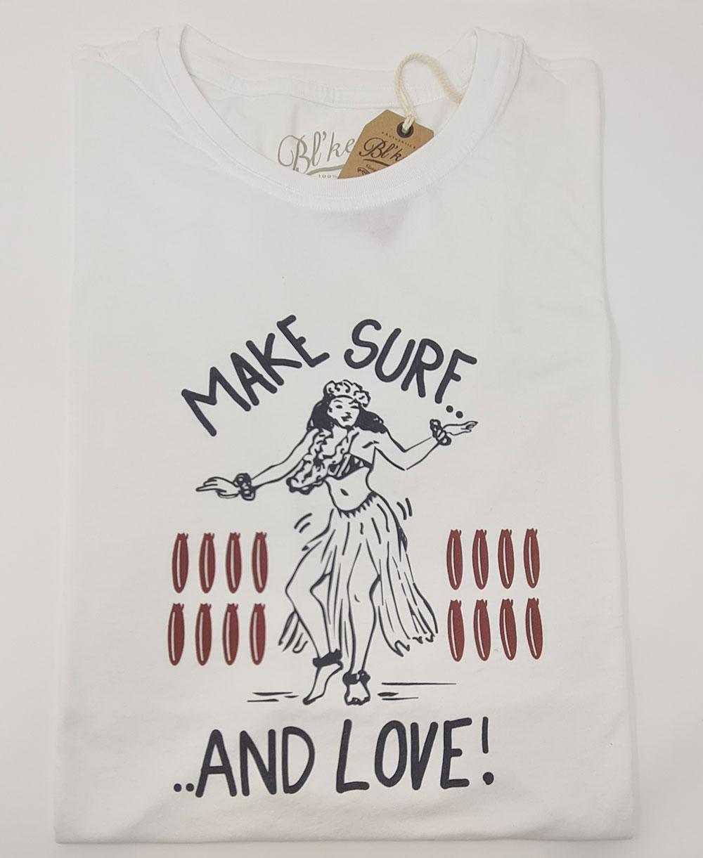 Make Surf Camiseta Manga Corta para Hombre White