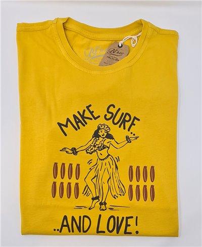 Make Surf Camiseta Manga Corta para Hombre Yellow