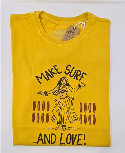 Make Surf T-Shirt Manica Corta Uomo Yellow