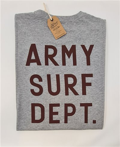 Army Surf Dept T-Shirt Manica Corta Uomo Heather Grey