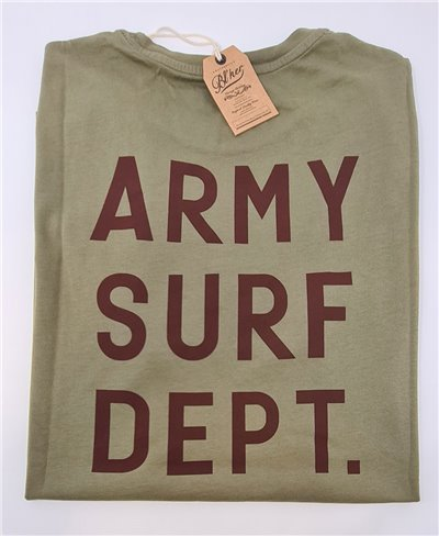 Herren Kurzarm T-Shirt Army Surf Dept Military Green