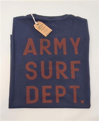 Army Surf Dept T-Shirt à Manches Courtes Homme Navy