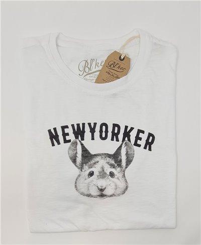 New Yorker Smurf Camiseta Manga Corta para Hombre White