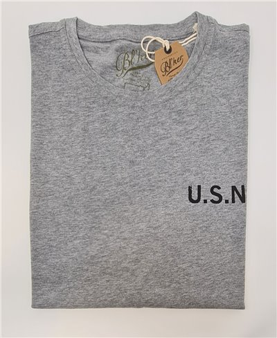Men's Short Sleeve T-Shirt USN 2021 Heather Grey