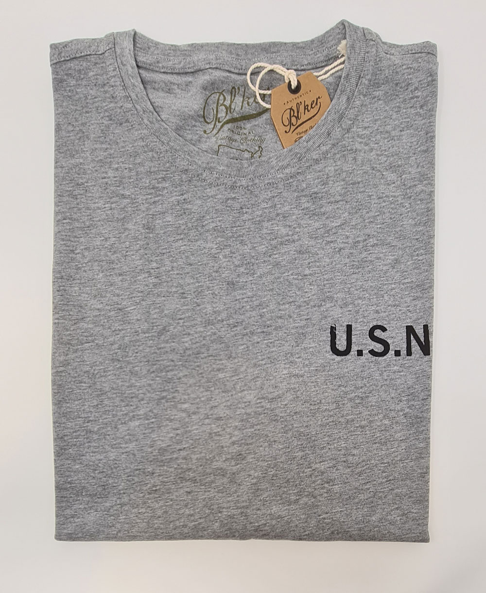 Men's Short Sleeve T-Shirt USN 2021 Heather Grey