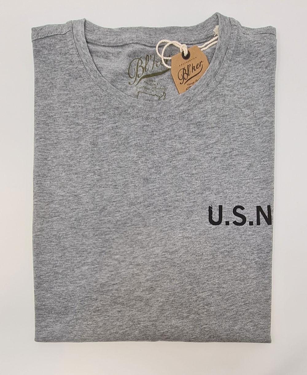 USN 2021 T-Shirt à Manches Courtes Homme Heather Grey