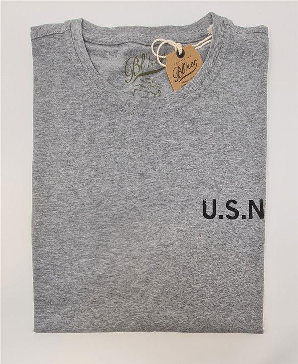 Herren Kurzarm T-Shirt USN 2021 Heather Grey
