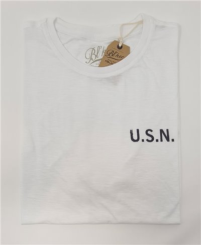 Men's Short Sleeve T-Shirt USN 2021 White