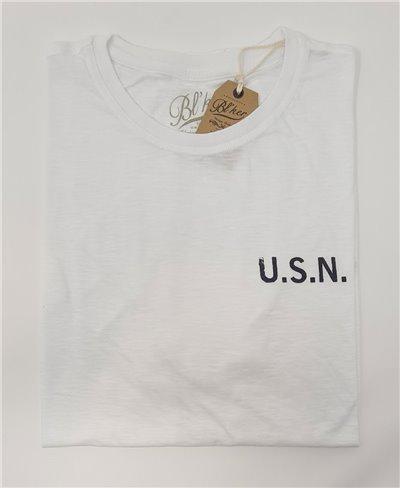 USN 2021 Camiseta Manga Corta para Hombre White